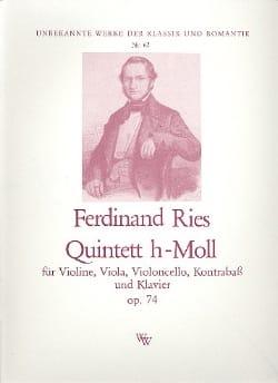 Quintett h-moll op. 74 -Klavier Violine Viola Cello Kontrab. laflutedepan