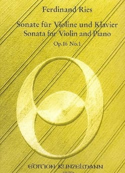Ferdinand Ries - Sonate op. 16 n° 1 - Partition - di-arezzo.fr