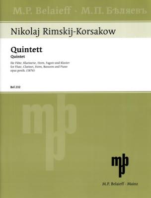 Nicolaï Rimsky-Korsakov - Bläserquintett op. posth. 1876 -Flöte Klarinette Horn Fagott Klavier - Partition - di-arezzo.fr