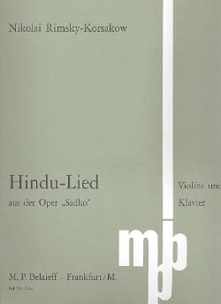 Hindu Lied - Nicolaï Rimsky-Korsakov - Partition - laflutedepan.com