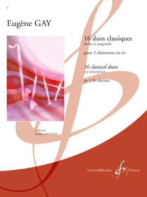 16 Duos classiques Eugène Gay Partition Clarinette - laflutedepan