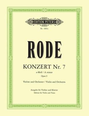 Pierre Rode - Konzert n° 7 a-Moll op. 9 - Partition - di-arezzo.fr
