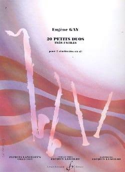 20 Petits duos Eugène Gay Partition Clarinette - laflutedepan