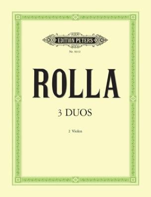 3 Duos für 2 Violen Alessandro Rolla Partition Alto - laflutedepan