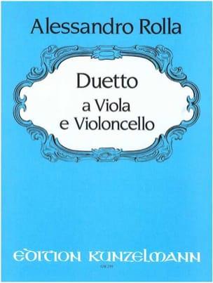 Alessandro Rolla - Duo für Viola und Violoncello - Partition - di-arezzo.fr