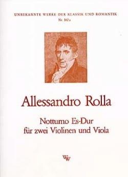 Alessandro Rolla - Notturno Es-Dur - 2 Violinen Viola - Sheet Music - di-arezzo.co.uk