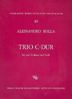 Alessandro Rolla - Trio C-Dur –2 Violinen Viola - Stimmen - Partition - di-arezzo.fr