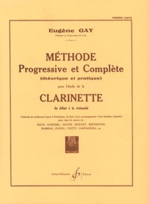 Eugène Gay - Méthode Progressive et Complète Volume 1 - Partition - di-arezzo.fr