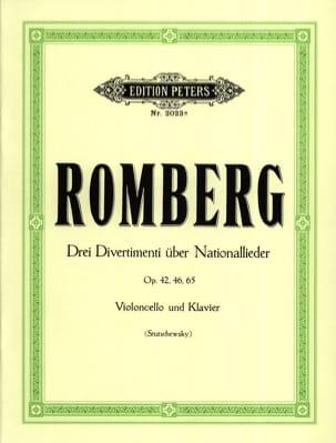 Bernhard Romberg - 3 Divertimenti über Nationallieder - Partitura - di-arezzo.es