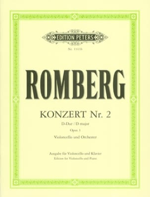 Bernhard Romberg - Concerto No. 2 in D Major Op. 3 - Sheet Music - di-arezzo.com