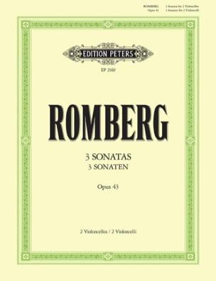 Bernhard Romberg - Sonaten op。 43 - 楽譜 - di-arezzo.jp