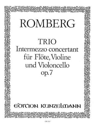 Trio op. 7 - Stimmen - Bernhard Heinrich Romberg - laflutedepan.com