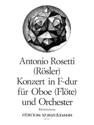 Antonio Rosetti - Konzert for Oboe Flöte in F-Dur - Oboe Klavier - Sheet Music - di-arezzo.co.uk