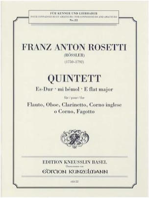 Quintett Es-Dur -Stimmen - laflutedepan.com