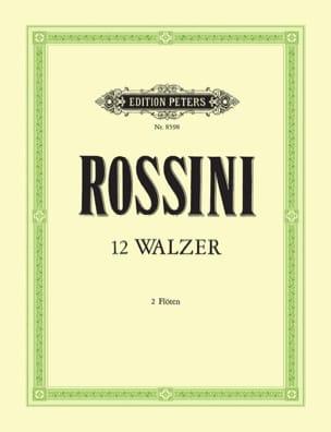 12 valses pour deux flûtes. - Gioacchino Rossini - laflutedepan.com