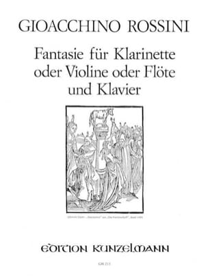 Gioacchino Rossini - ファンタジー - クラリネット、ヴァイオリン、フルートクラヴィエ - 楽譜 - di-arezzo.jp