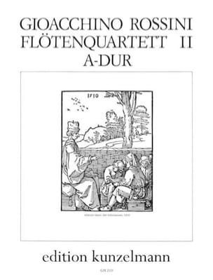 Gioacchino Rossini - Flötenquartett Nr. 2 A-Dur - Stimmen - Sheet Music - di-arezzo.co.uk
