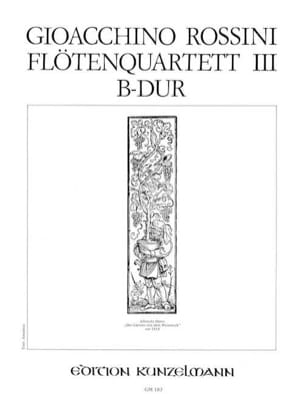 Gioacchino Rossini - Flötenquartett Nr. 3 B-Dur - Stimmen - Sheet Music - di-arezzo.co.uk