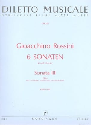 Sonate n° 3 C-Dur - Partitur - ROSSINI - Partition - laflutedepan.com