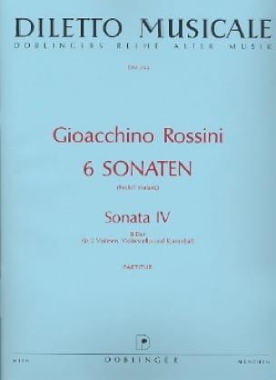 Gioacchino Rossini - Sonata No. 4 B-Dur - Partitur - Partition - di-arezzo.co.uk