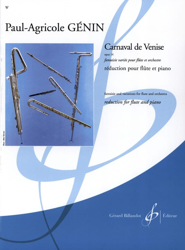 Paul Agricole Génin - Carnival of Venice op. 14 - Piano flute - Partition - di-arezzo.co.uk