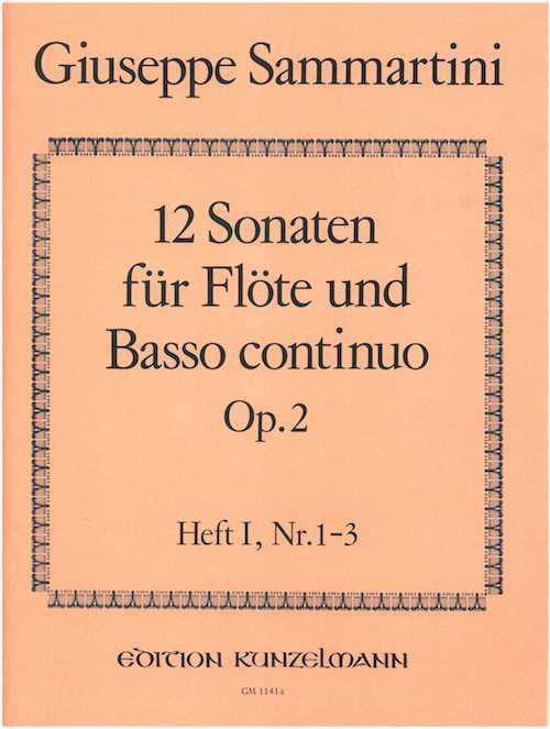 12 Sonaten op. 2 - Heft 1 - Flöte u. Bc - laflutedepan.com