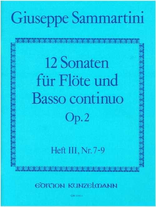 12 Sonaten op. 2 - Heft 3 - Flöte u. Bc - laflutedepan.com