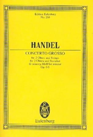 Concerto grosso g-moll - HAENDEL - Partition - laflutedepan.com