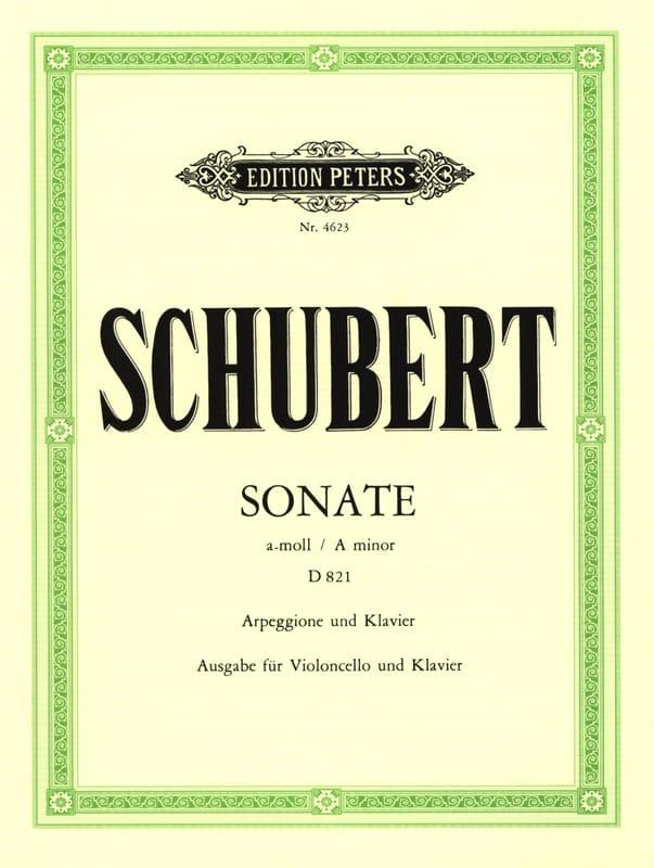 SCHUBERT - Sonata Arpeggione D 821 en la menor - Partition - di-arezzo.es