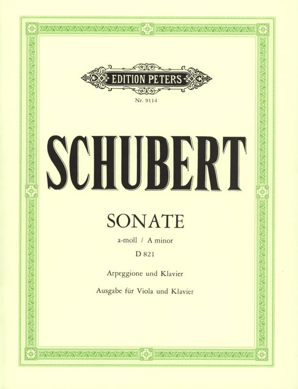 SCHUBERT - Sonata Arpeggione a-moll D. 821 - Viola - Partition - di-arezzo.co.uk