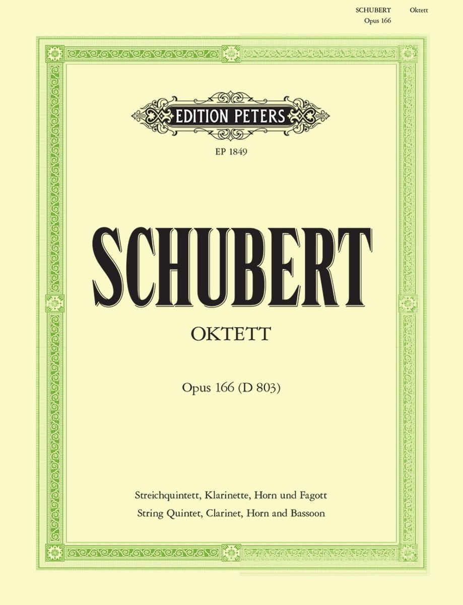 SCHUBERT - Octuor, Op.166 D.803 - Clar-Horn-Bassoon-String Quartet-Double Bass - Partition - di-arezzo.co.uk