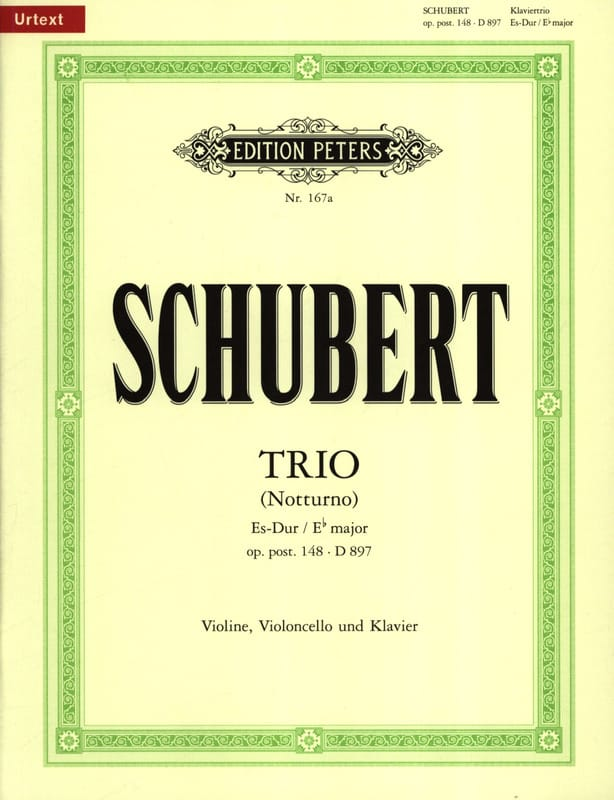 SCHUBERT - Trio Es-Dur Notturno op. post. 148 D. 897 - Partition - di-arezzo.co.uk