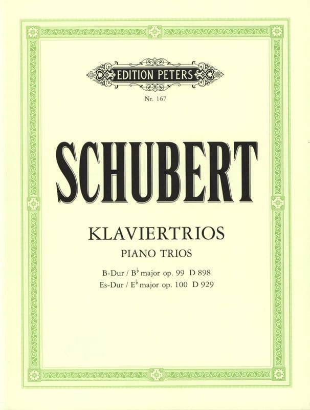 SCHUBERT - Klaviertrios: op. 99 D 989 B-Dur - op. 100 D 929 Es-Dur - Stimmen - Partition - di-arezzo.co.uk