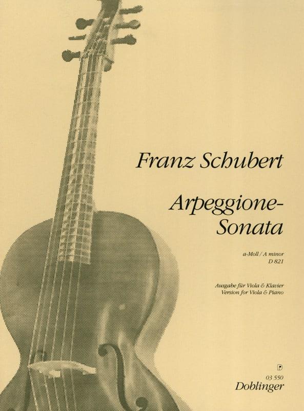 SCHUBERT - Arpeggione-Sonata a-Moll D. 821 - Viola - Partition - di-arezzo.co.uk