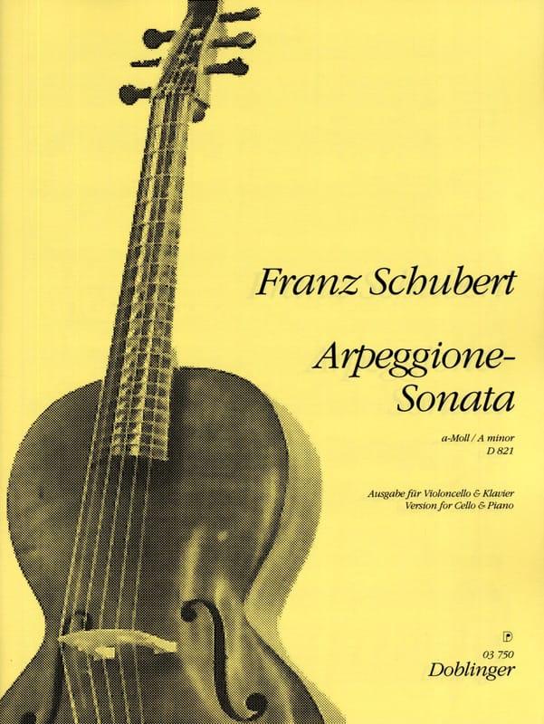 SCHUBERT - Sonate-Arpeggione A-Moll, D. 821 - Partition - di-arezzo.com