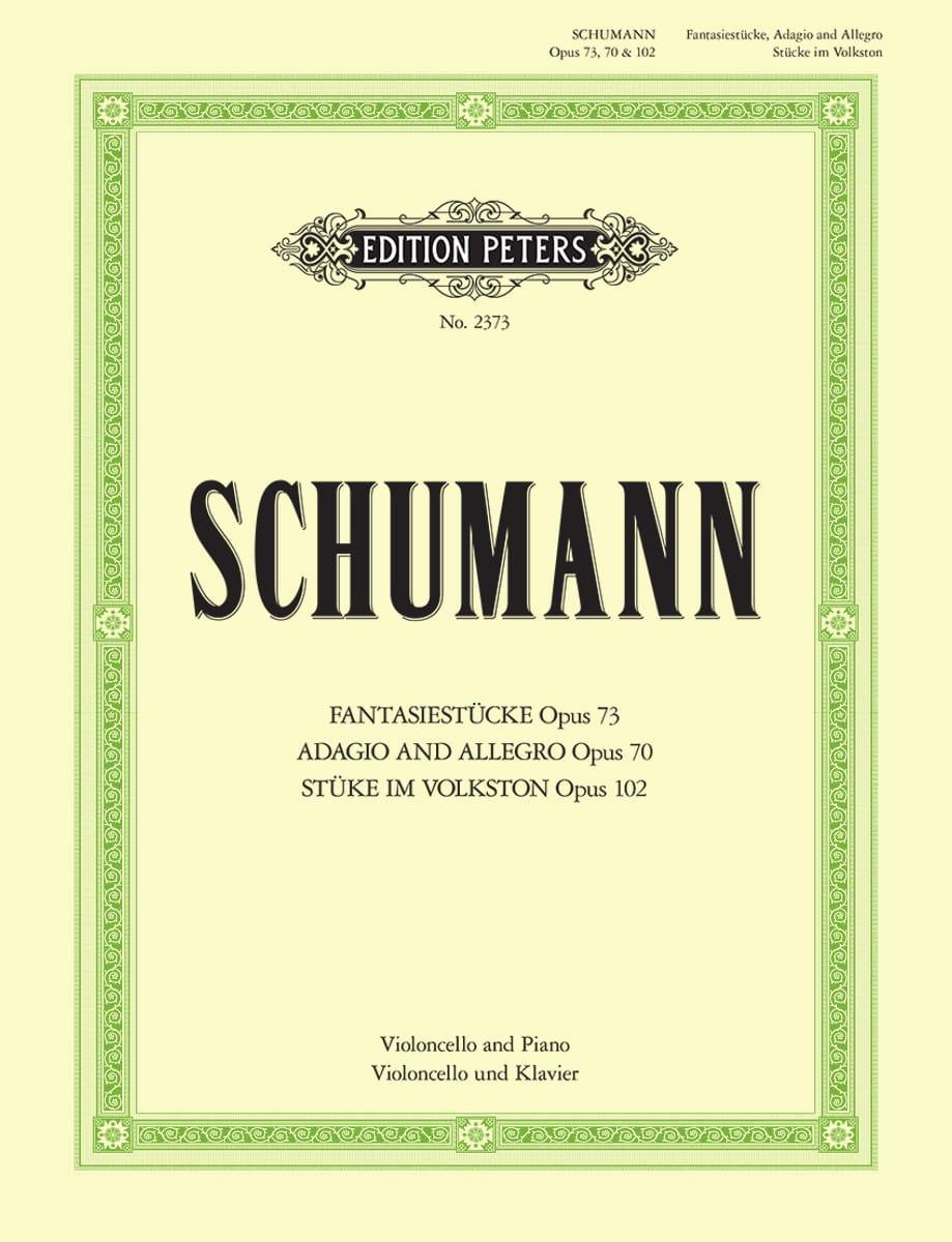 SCHUMANN - Fantasiestücke op. 73 - Adagio und Allegro op. 70 - Stücke im Volkston op. 102 - Partition - di-arezzo.co.uk