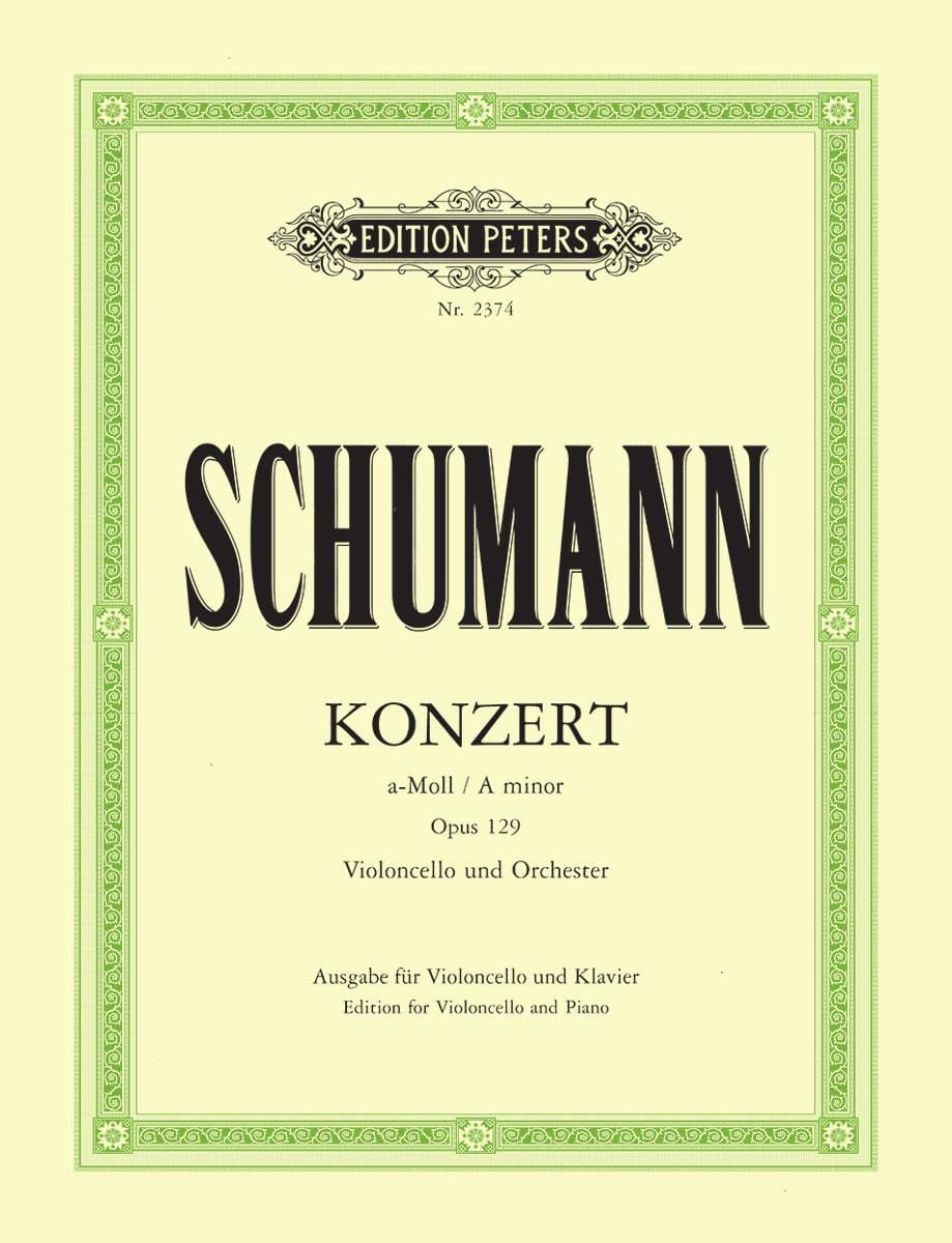 SCHUMANN - Cello Concerto a minor op. 129 - Partition - di-arezzo.co.uk
