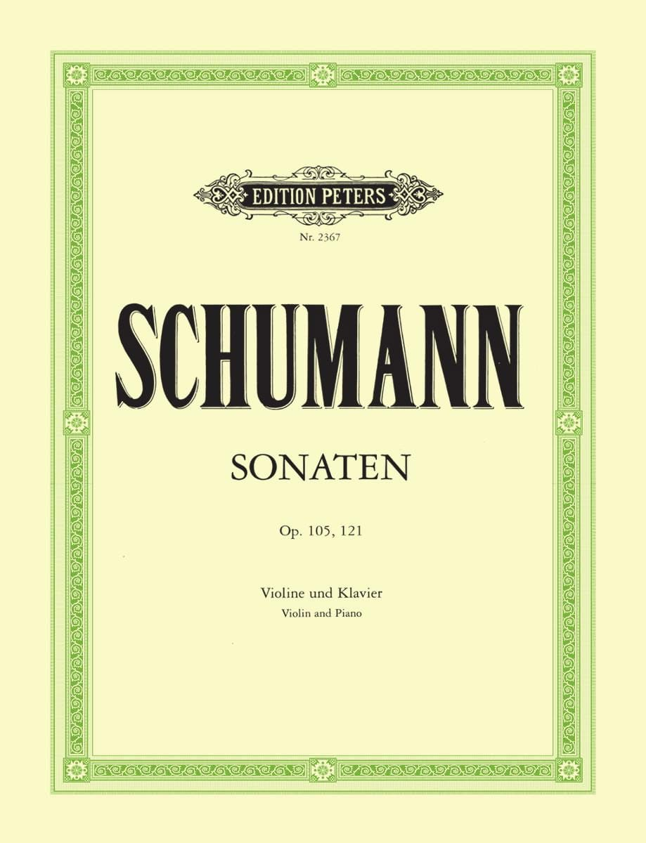 SCHUMANN - Sonaten op. 105, 121 - Partition - di-arezzo.co.uk
