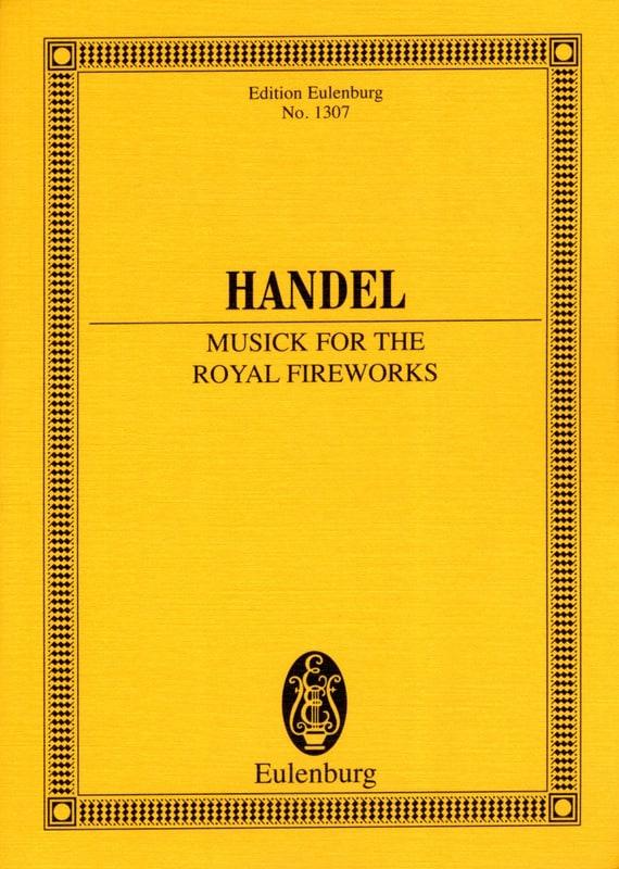 HAENDEL - Music For Royal Fireworks Hwv.351 - Partition - di-arezzo.com