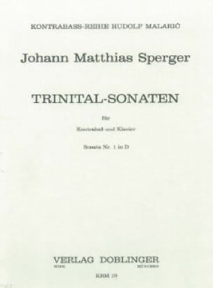Johann Matthias Sperger - Trinital-Sonaten - Sonata Nr. 1 D-Dur - Partition - di-arezzo.co.uk