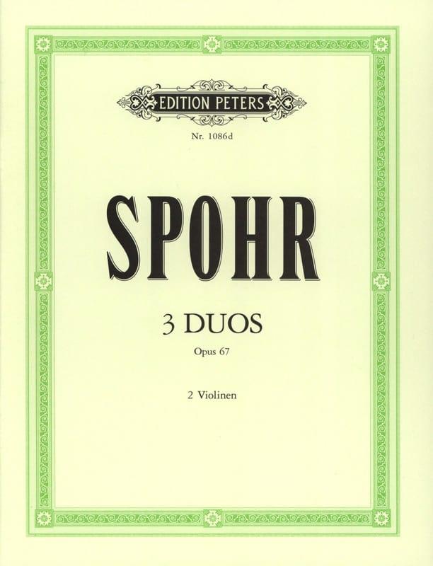 3 Duos op. 67 - SPOHR - Partition - Violon - laflutedepan.com
