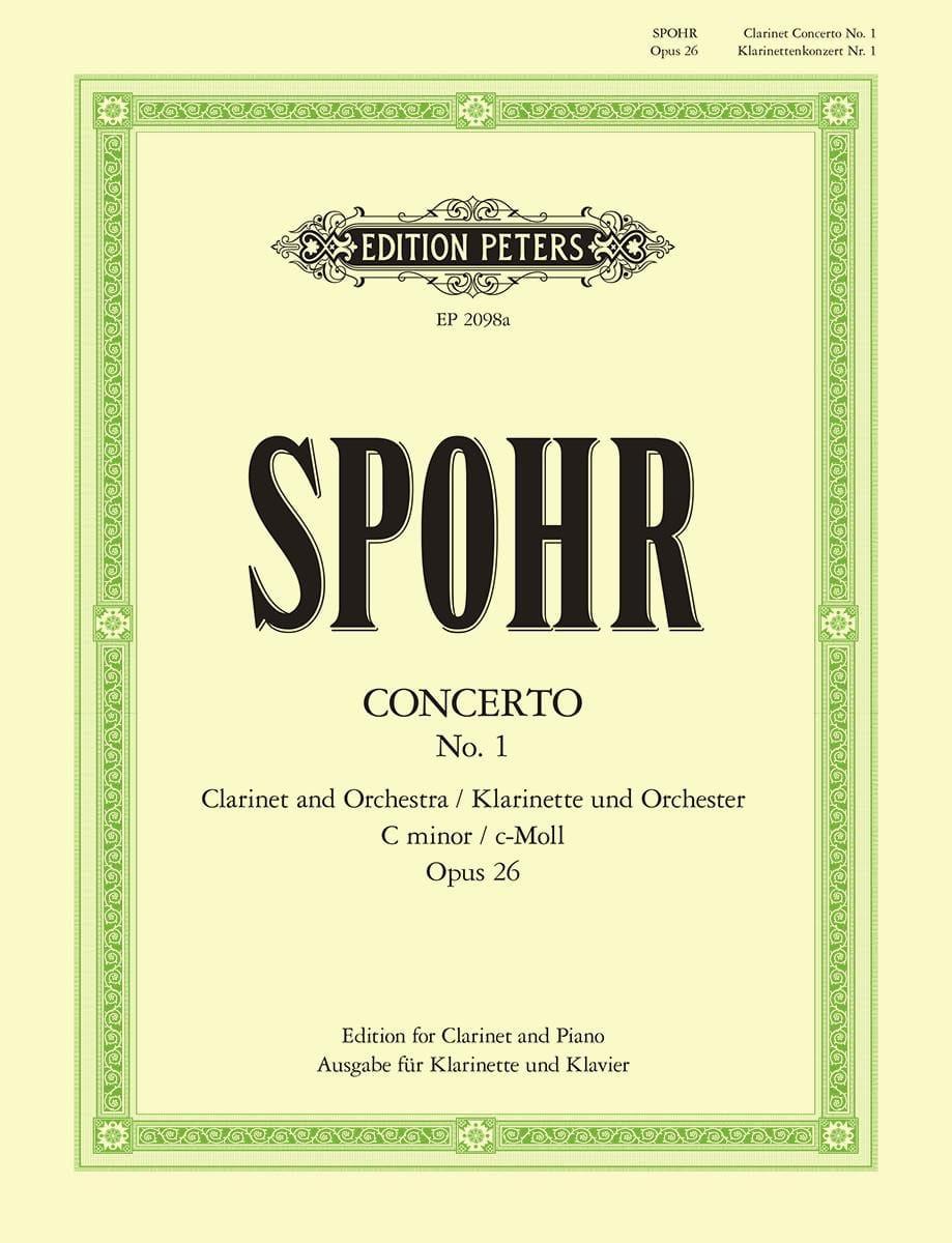 Louis Spohr - Concierto para clarinete n. ° 1 c menor op. 26 - Partition - di-arezzo.es