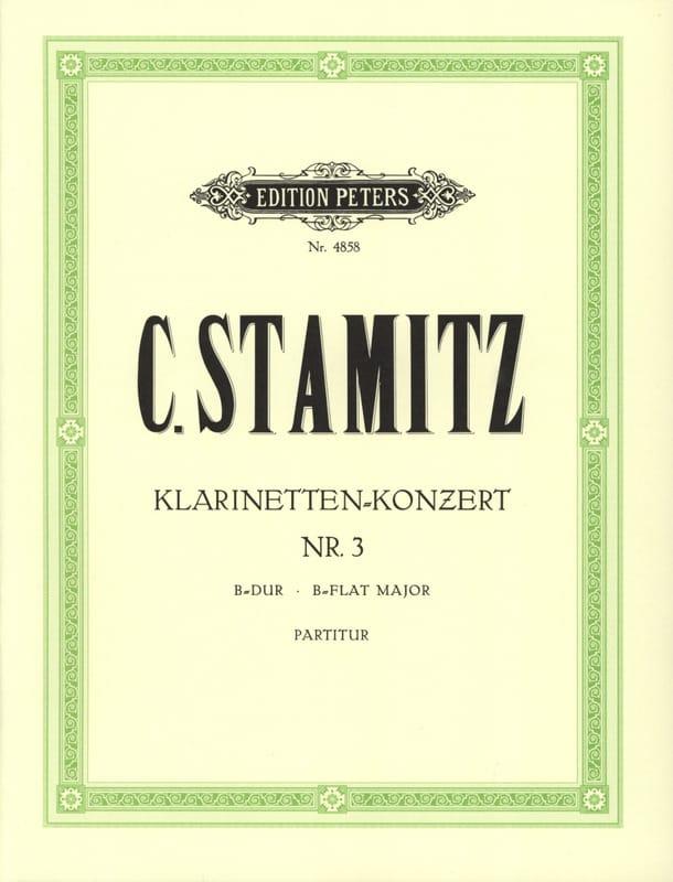 Klarinetten-Konzert Nr. 3 B-Dur - Partitur - laflutedepan.com