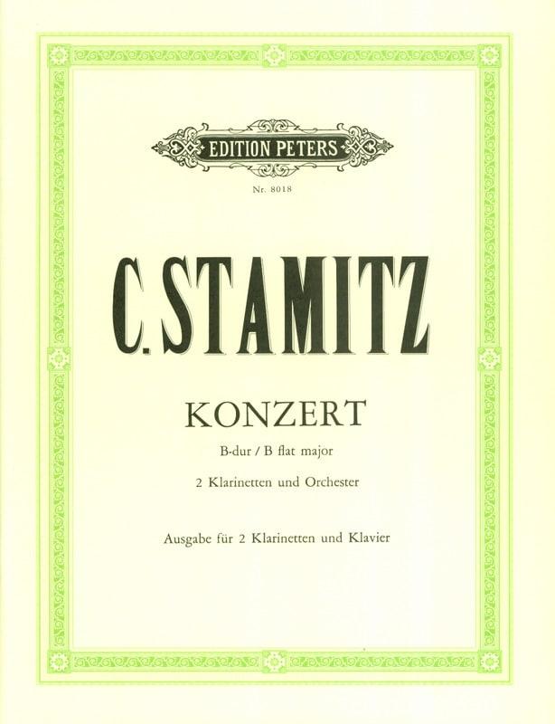 Konzert B-Dur -2 Klarinetten Klavier - STAMITZ - laflutedepan.com