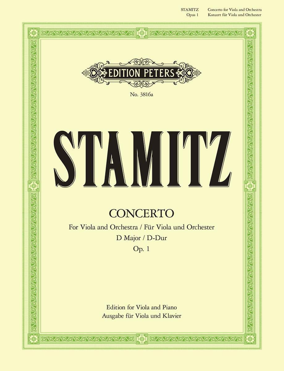 Carl Stamitz - Concierto D-Dur op. 1 - Alto / Piano - Partition - di-arezzo.es