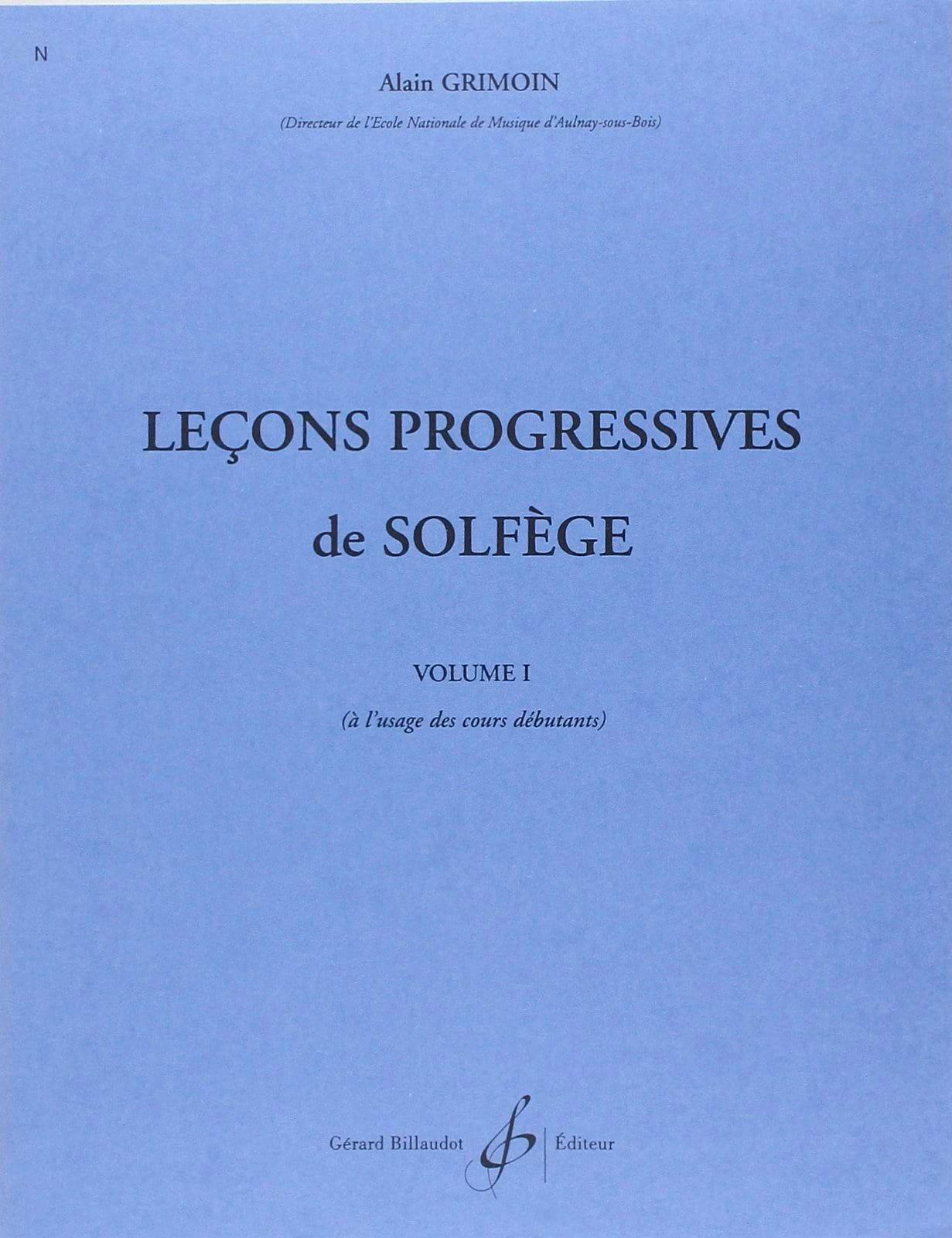 Alain Grimoin - 30 Progressive Lessons Volume 1 - Partition - di-arezzo.com