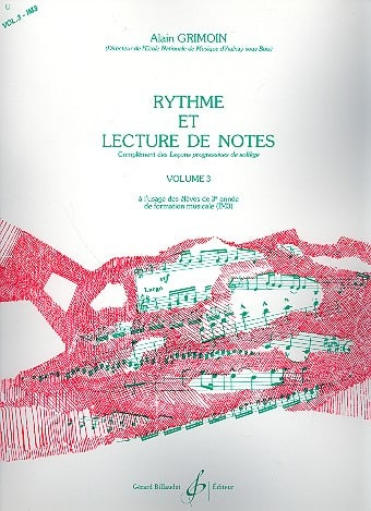 Alain Grimoin - Rhythm and Reading Notes Volume 3 - Partition - di-arezzo.co.uk