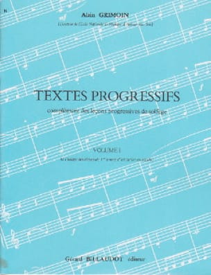 Alain Grimoin - Progressive texts - Volume 1 - Partition - di-arezzo.co.uk