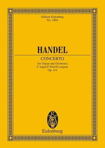HAENDEL - Concerto for Organ and Orchestra in F Major Op. 4/4 - Partition - di-arezzo.com