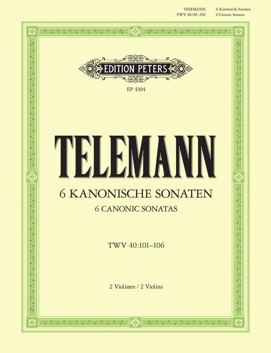 TELEMANN - 6 kanonische Sonaten - Partition - di-arezzo.co.uk